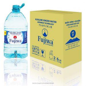 Nước uống ion kiềm Fujiwa 6L 2 BìnhThùng (Có vòi)